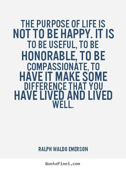 THE PURPOSE OF LIFE IS 