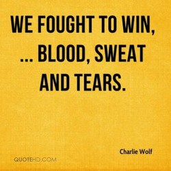 WE FOUGHT TO WIN,