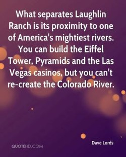 What separates Laughlin 