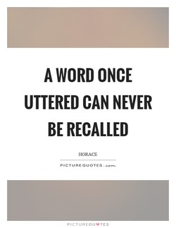 A WORD ONCE 