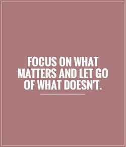 FOCUS ON WHAT 