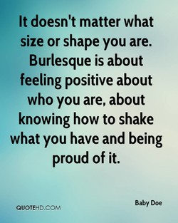 It doesn't matter what 