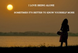 1 LOVE BEING ALONE 