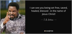 I can see you being set free, saved, 