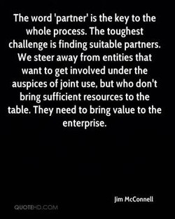 The word 'partner' is the key to the 