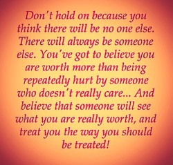 Don 't hold on because you 