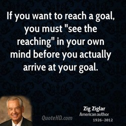 If you want to reach a goal, 