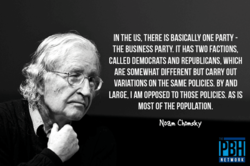 IN THE US, THERE IS BASICALLY ONE PARTY - 