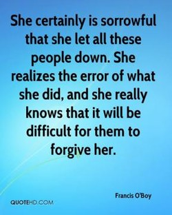 She certainly is sorrowful 