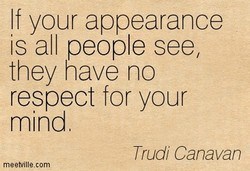 If your appearance 