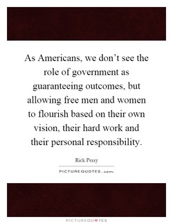 As Americans, we don't see the 