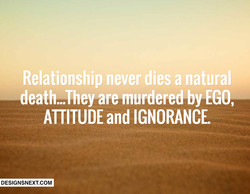 Relationship never dies a natural 