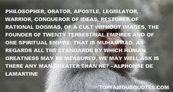 PHILOSOPHER, ORATOR, APOSTLE, LEGISLATOR, 