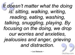 t d esn't matter what the doing 