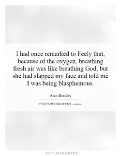 I had once remarked to Feely that, 