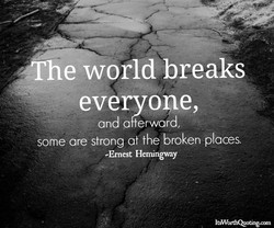 he world breaks 