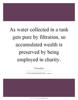 As water collected in a tank 