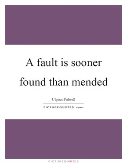 A fault is sooner 