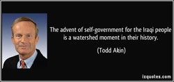 The advent of self-government for the Iraqi people 