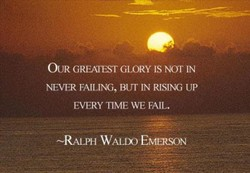 OUR GREÄIEST GLORY IS Nor IN 