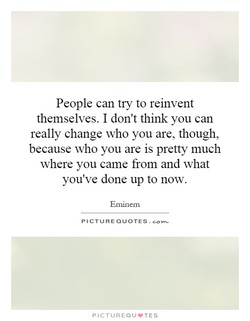 People can try to reinvent 