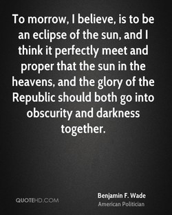 To morrow, I believe, is to be 