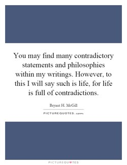 You may find many contradictory 