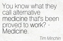 You know what they 
