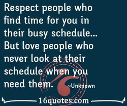 Respect people who 