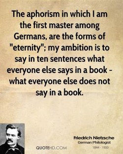 The aphorism in which I am 