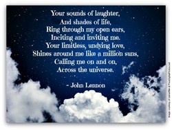 Your sounds of laughter, 
