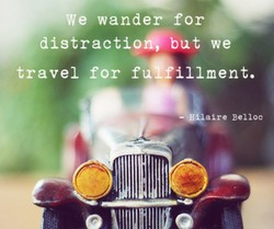 We wander for 