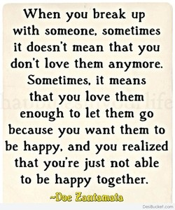 When you break up 