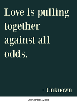 Love is pulling 