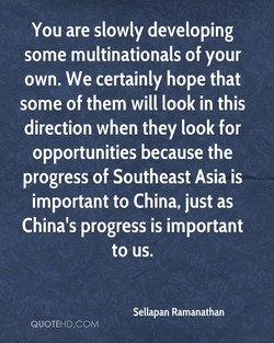 You are slowly developing 