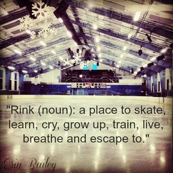 Rink (noun): a place to skate, 