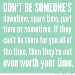 DON'T BE SOMEONE'S 