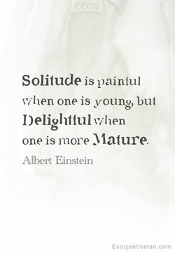 Solitude is painful 