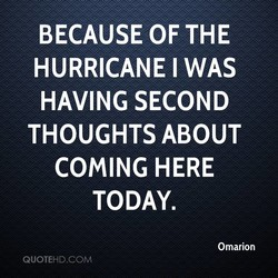 BECAUSE OF THE 