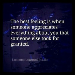 The best feeling is when 