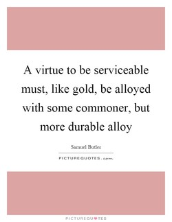 A virtue to be serviceable 