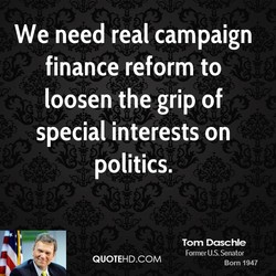 We need real campaign 