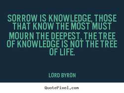 SORROW IS KNOWLEDGE, THOSE 