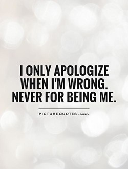 I ONLY APOLOGIZE 