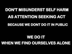 DONT MISUNDERST SELF HARM 