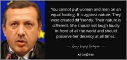 You cannot put women and men on an 