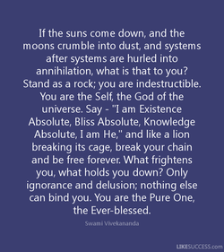 If the suns come down, and the 
