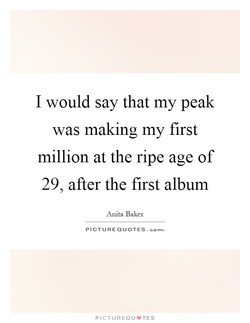 I would say that my peak 