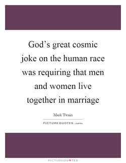 God's great cosmic 