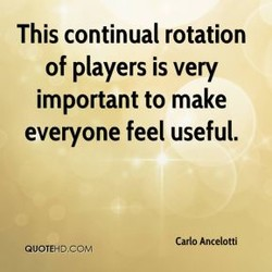 This continual rotation 